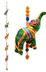 colgante de cuerda elefantes
